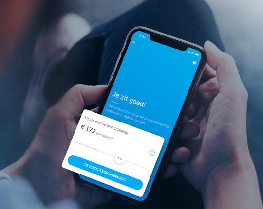 Check je termijnbedrag in de app